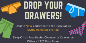 drop your drawers rotary echo donations
