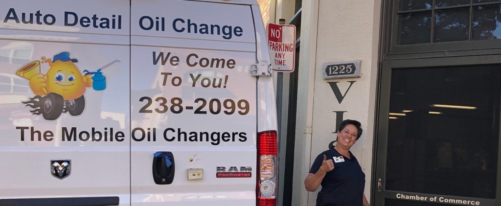 Lisa Marrone of the mobile oil changers