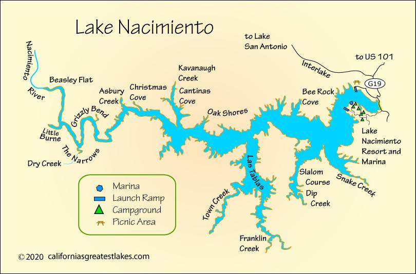 lake nacimiento map