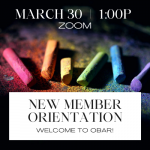 March New Member Orientation