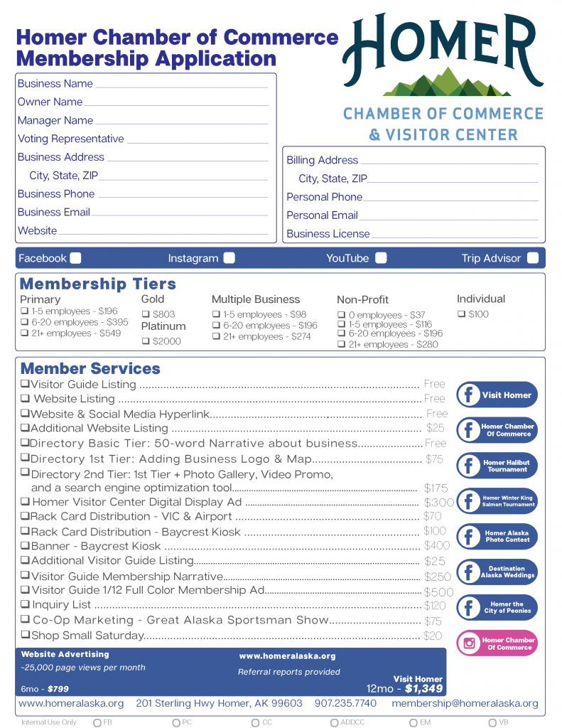 Homer Chamber of Commerce New Membership Application_Page_1 a