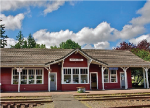 historic railroad depot exterior