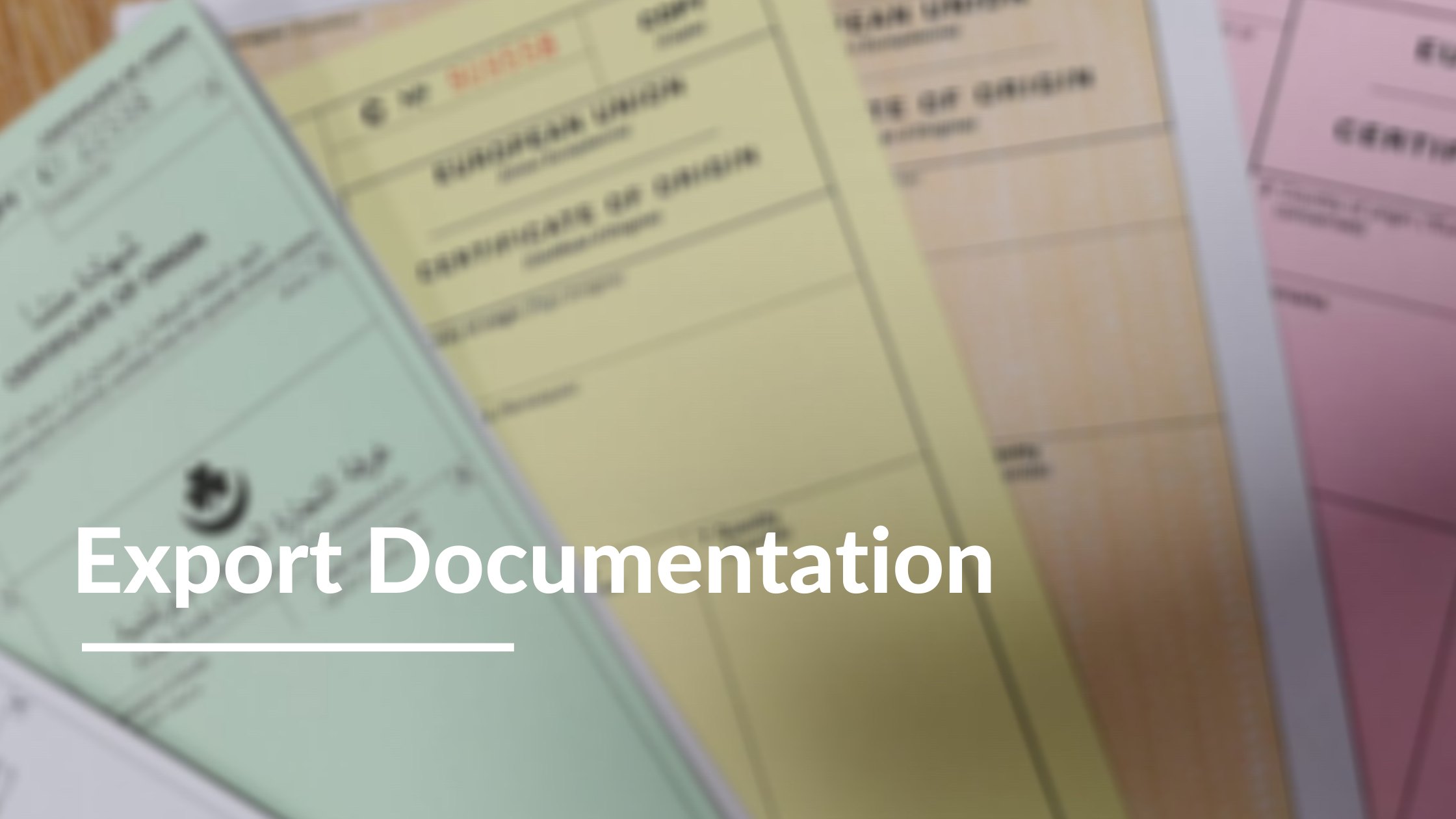 Export Documentation