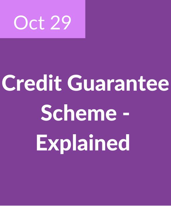 Credit Guarantee Scheme Explained