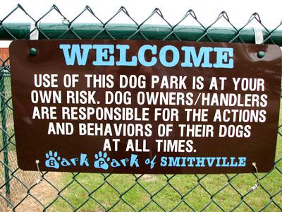 Bark Park Sign