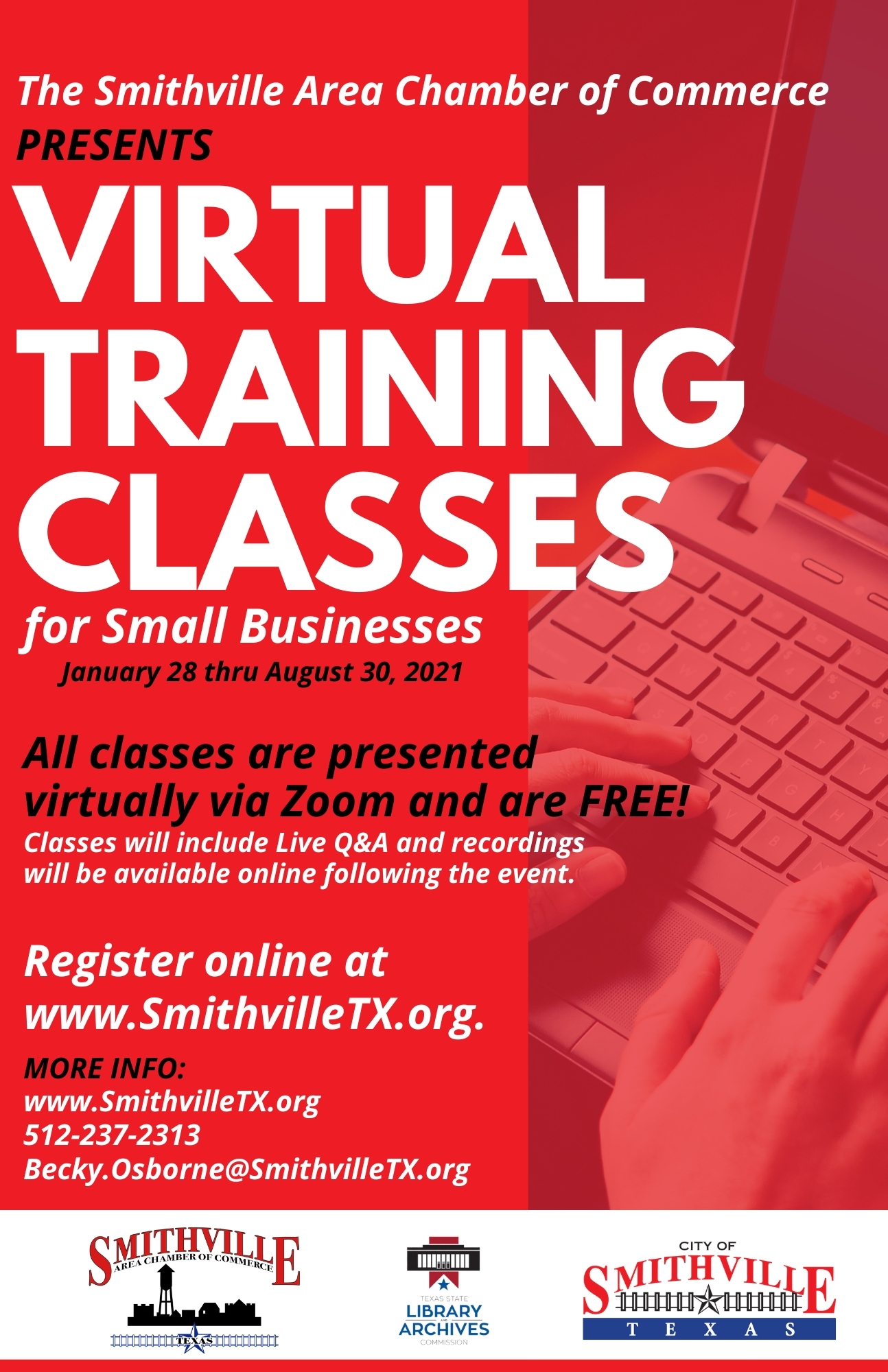 Virtual Training Classes Poster