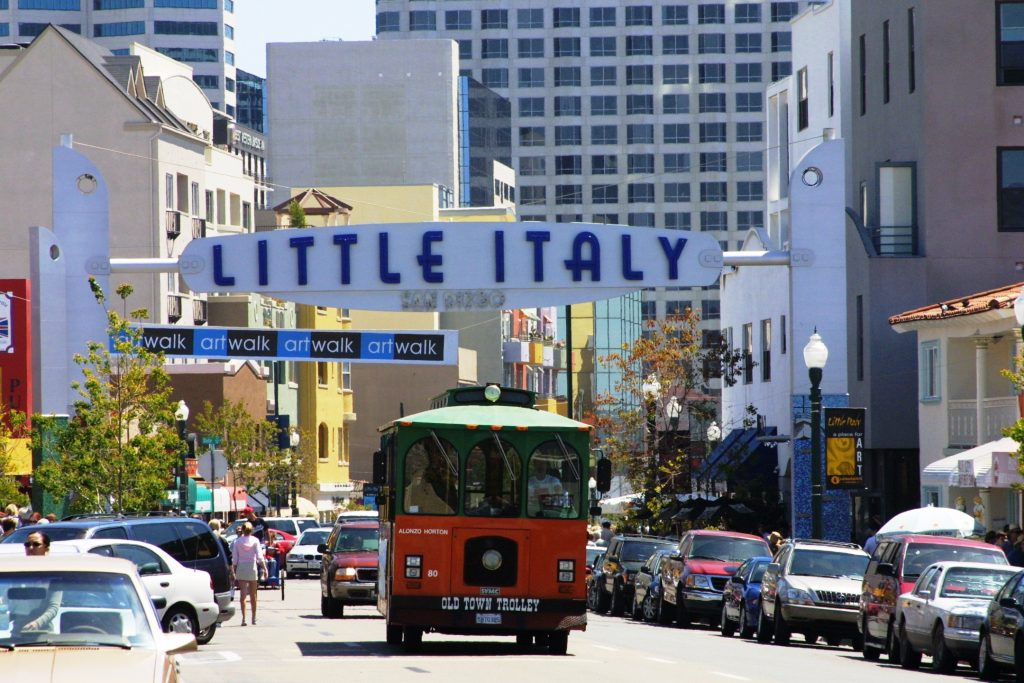 Downtown Little Italy Trolley -Courtesy Joanne DiBona SanDiego.org