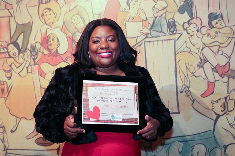 2020 Heart of Donelson-Hermitage Award Winner is Nicole Vaughn.