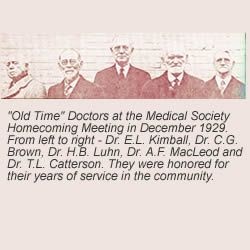Old time doctors at the medical society homecoming meeting in 1929