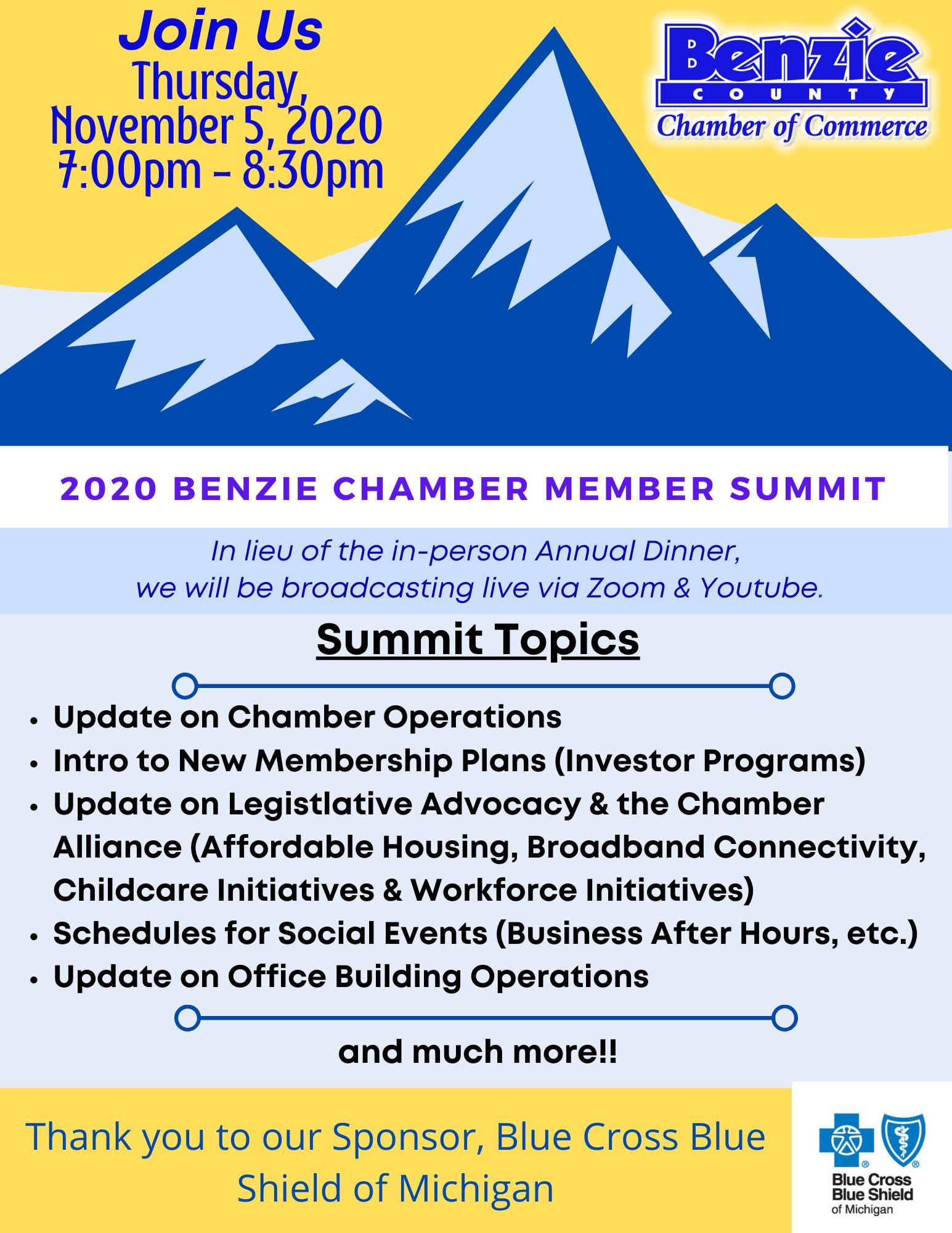 Benzie Chamber Member Summit 2020.BCBS