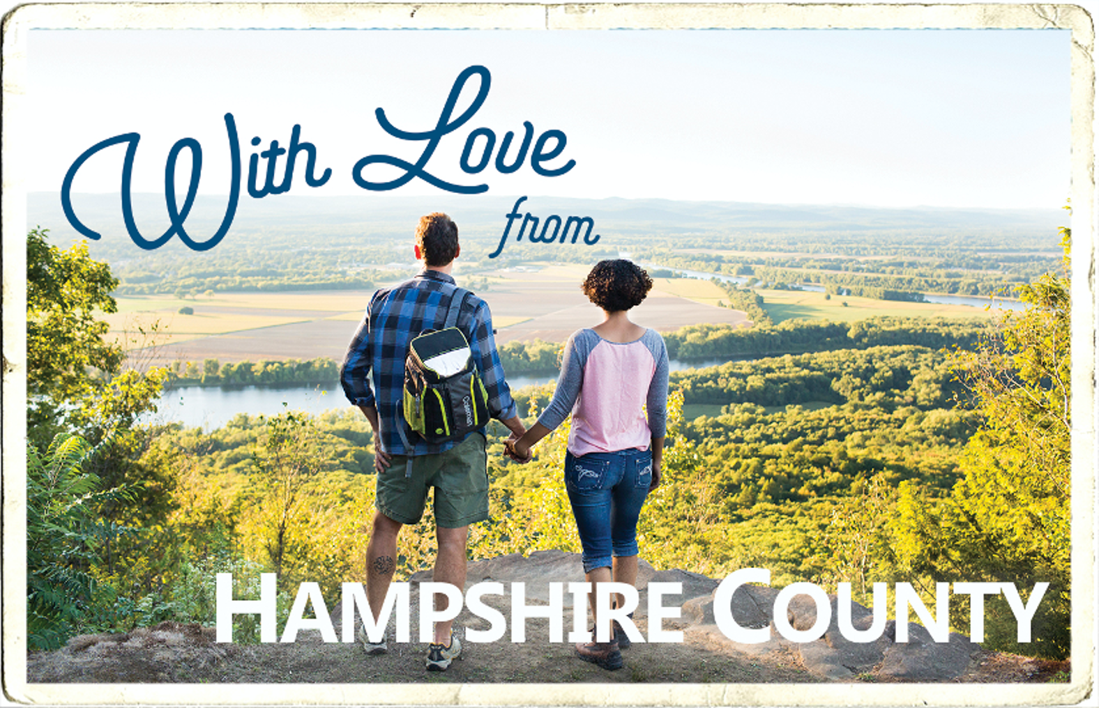 With Love from Hampshire County Postcard