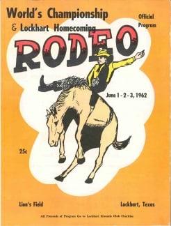 1962 Rodeo Program