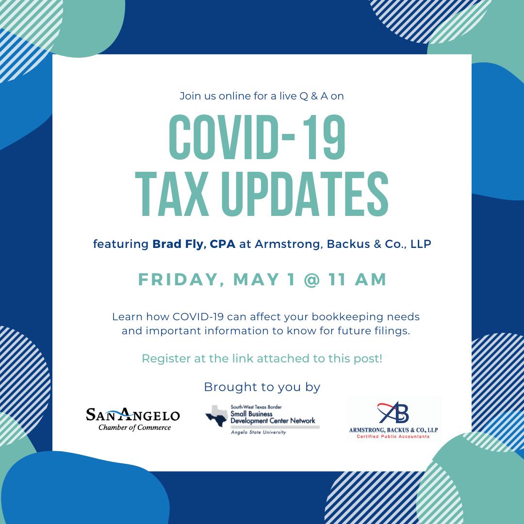 COVID-19 Tax Updates Square Graphic