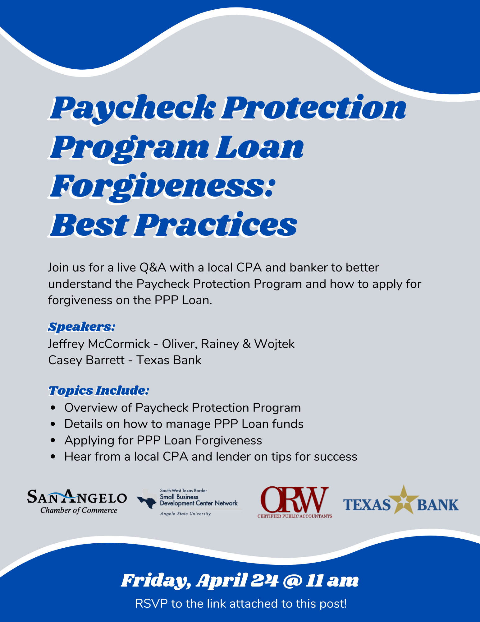 Live Q & A - PPP Loan Forgiveness Best Practices