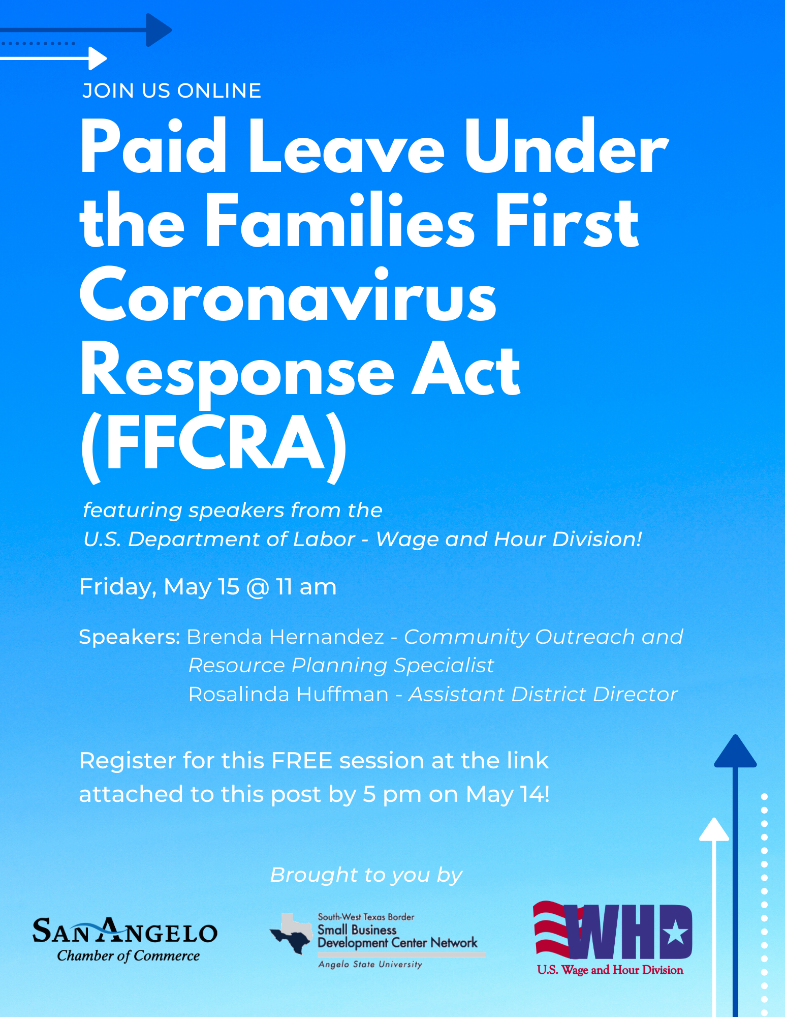Paid Leave and FFCRA Webinar Flyer