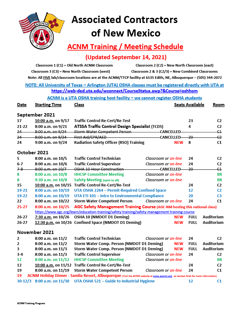 ACNM Training Meeting Schedule - 9-14-2110241024_1