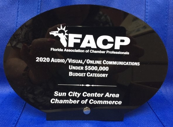 2020 Audio/Visual/Online Communications Award for the chamber