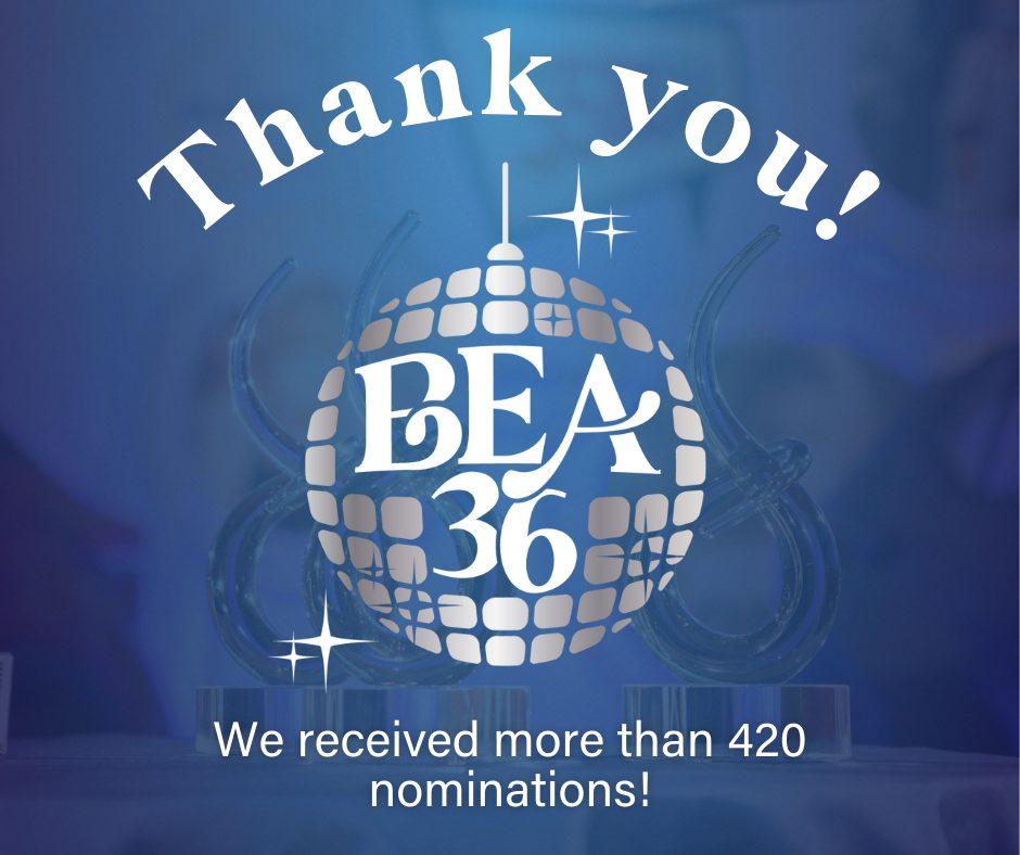 36th Annual BEA nomination graphic
