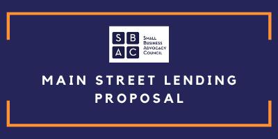 Main Street Lending Proposal