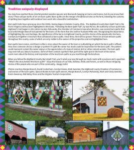 2020 Barn Quilt Trail Brochure 2 FINAL Description