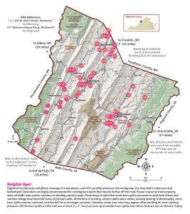 2020 Barn Quilt Trail Brochure 3 FINAL Map