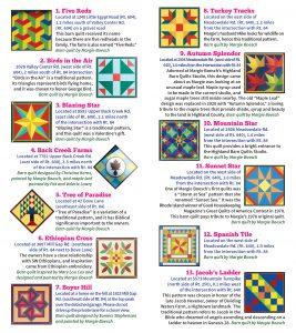 2020 Barn Quilt Trail Brochure 4 FINAL Quilts 1 - 13