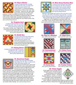 2020 Barn Quilt Trail Brochure 5 FINAL Quilts 14 - 26