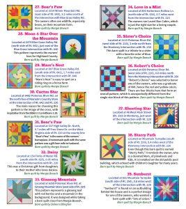 2020 Barn Quilt Trail Brochure 6 FINAL Quilts 27 - 39