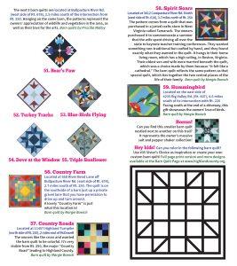 2020 Barn Quilt Trail Brochure 8 FINAL Quilts 51 - 59