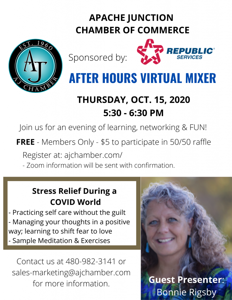 AFTER HOURS VIRTUAL MIXER - October Flyer