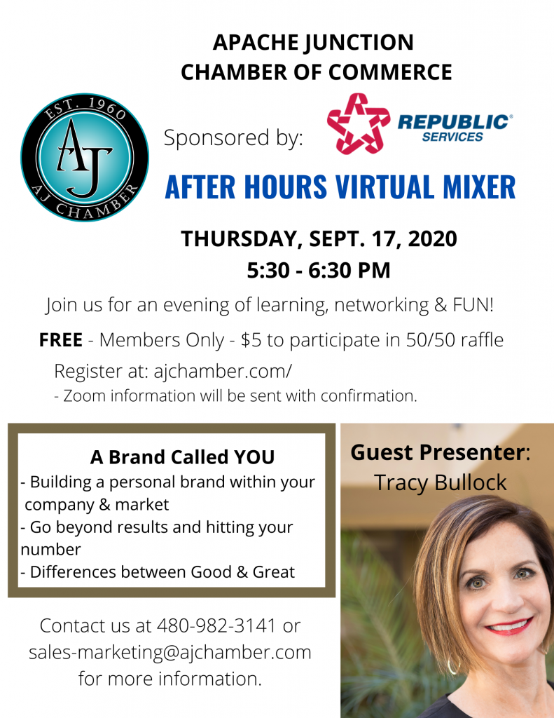 AFTER HOURS VIRTUAL MIXER - September Flyer