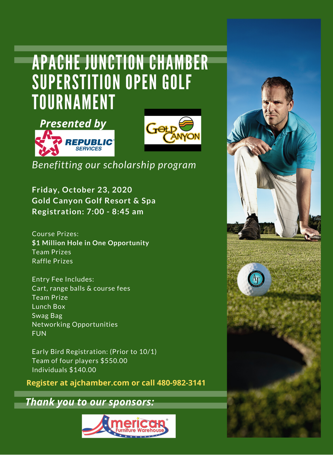 Superstition Open Golf Tournament Flyer