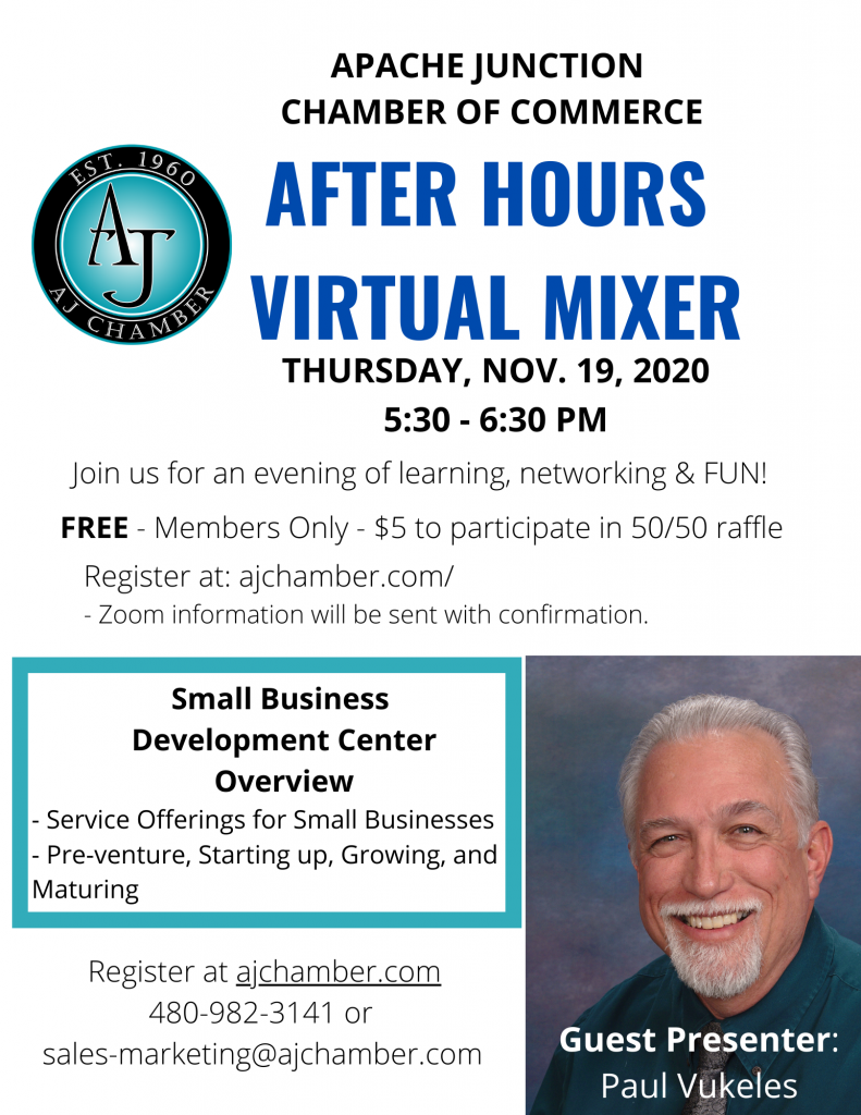 NOVEMBER AFTER HOURS VIRTUAL MIXER Flyer