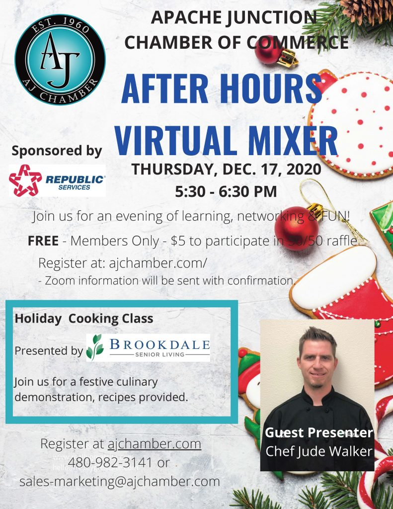 Flyer - DECEMBER AFTER HOURS VIRTUAL MIXER