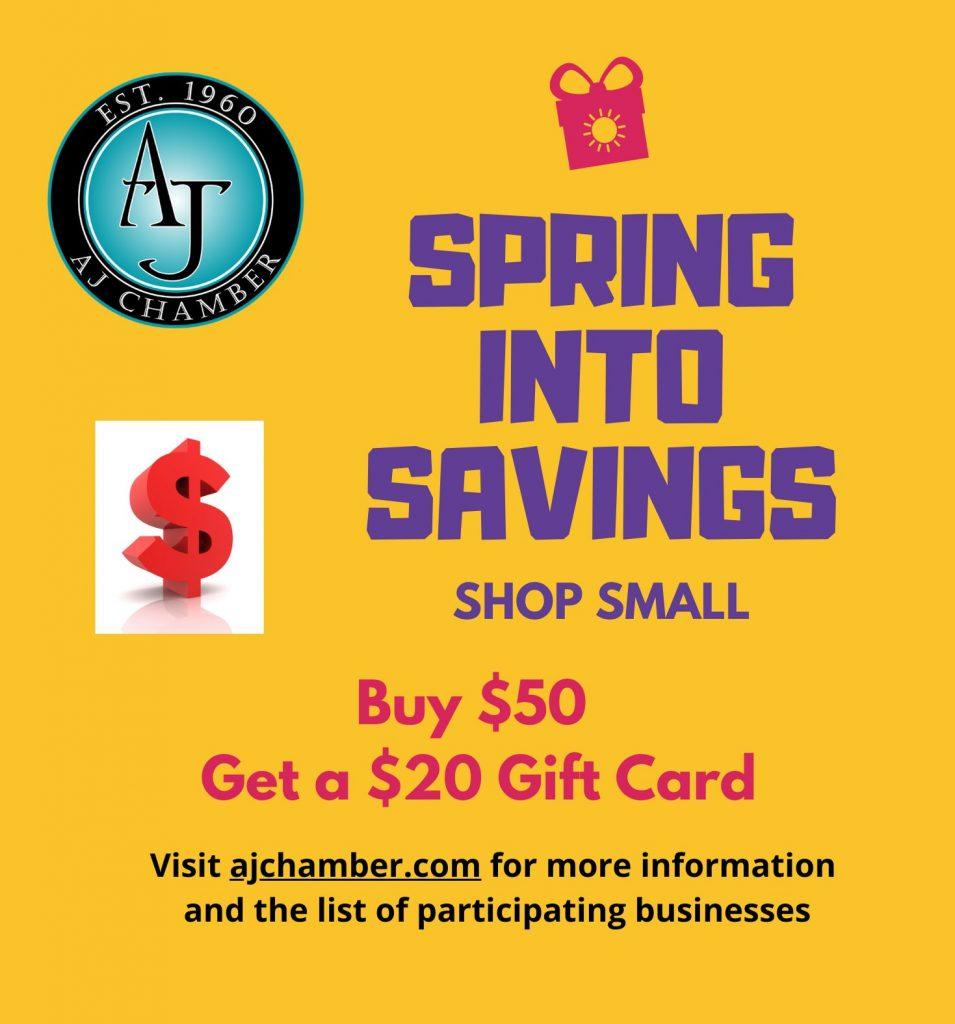 spring into savings logo ad - EV Courier