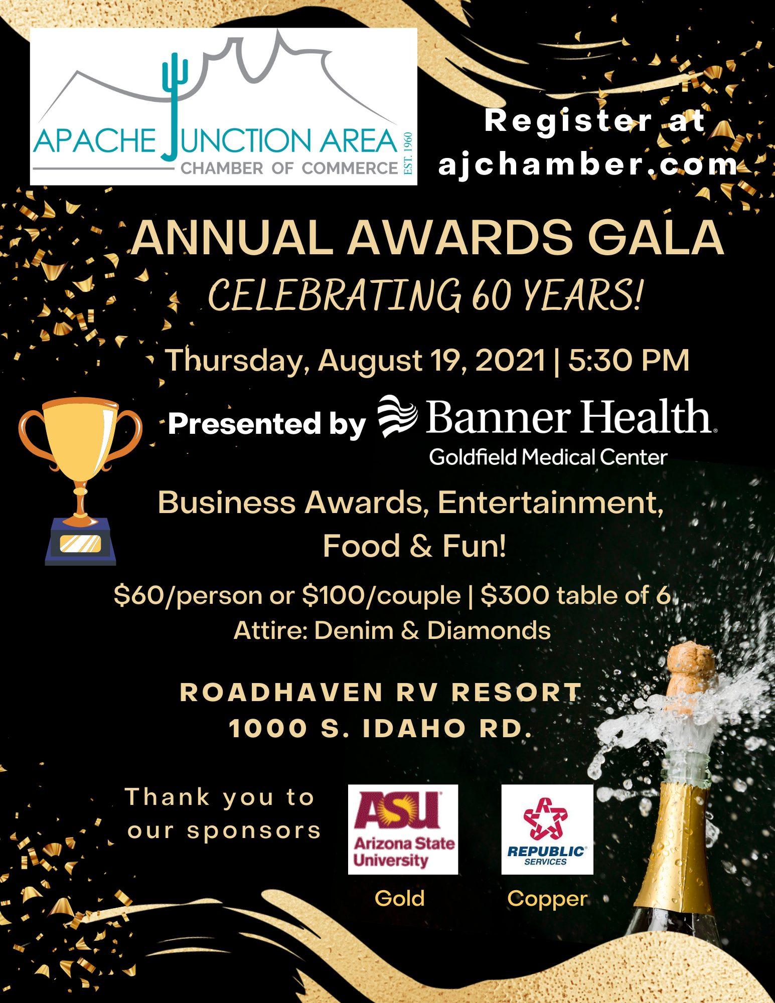 2021 Annual Awards Gala Flyer