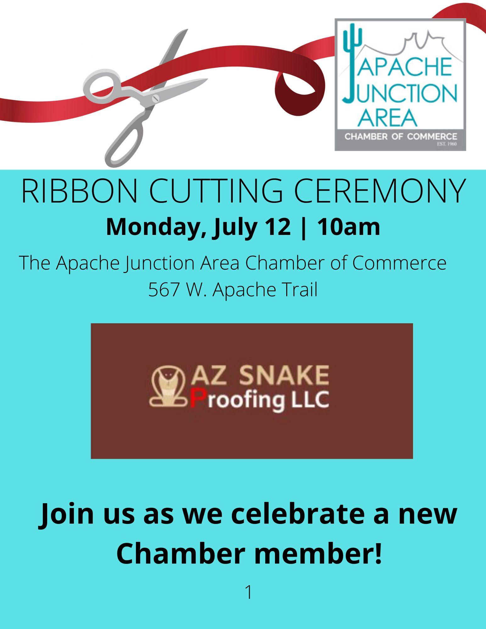 _ Ribbon Cutting -AZ Snake Proofing LLC