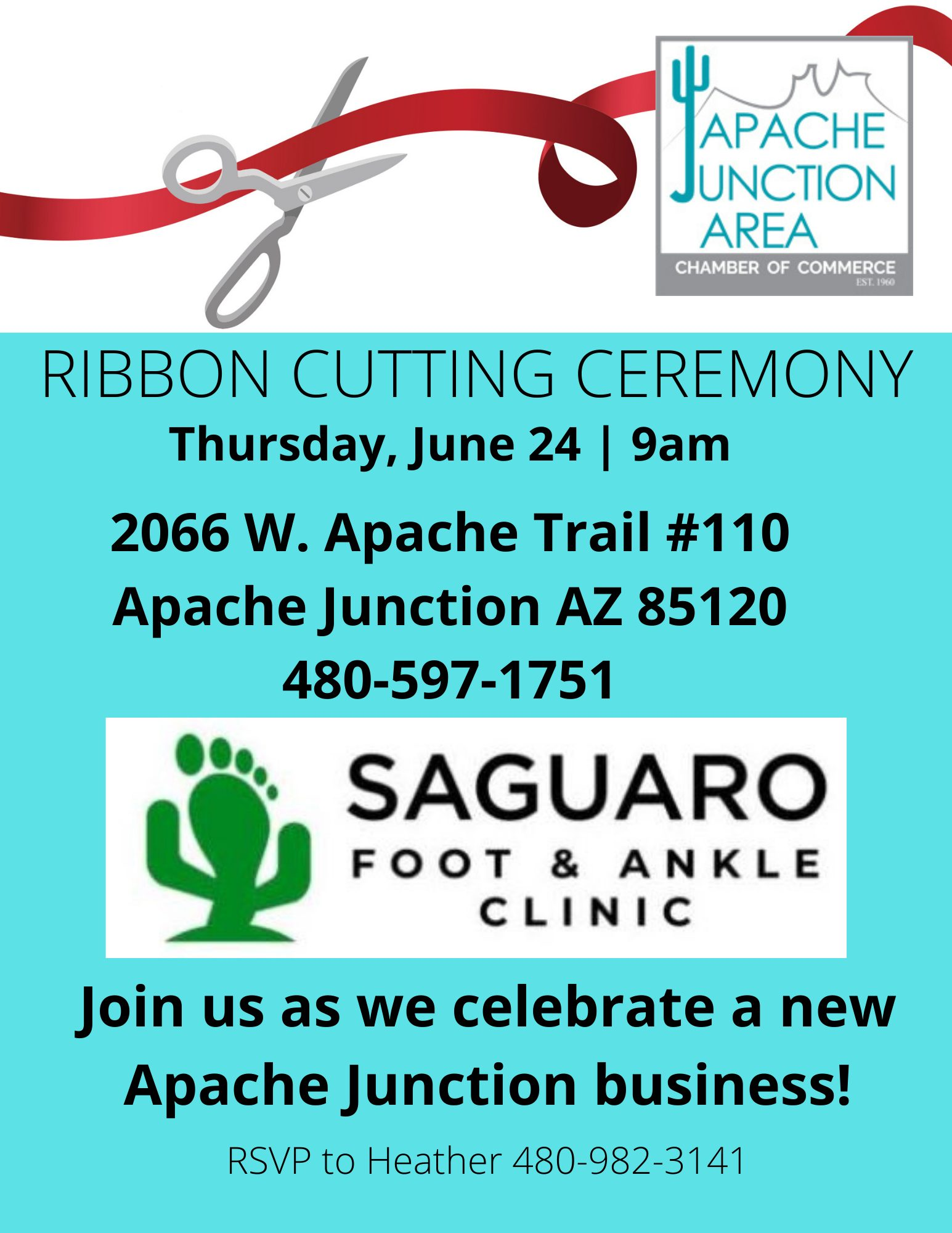 _ Ribbon Cutting - Saguaro Foot and Ankle (1)