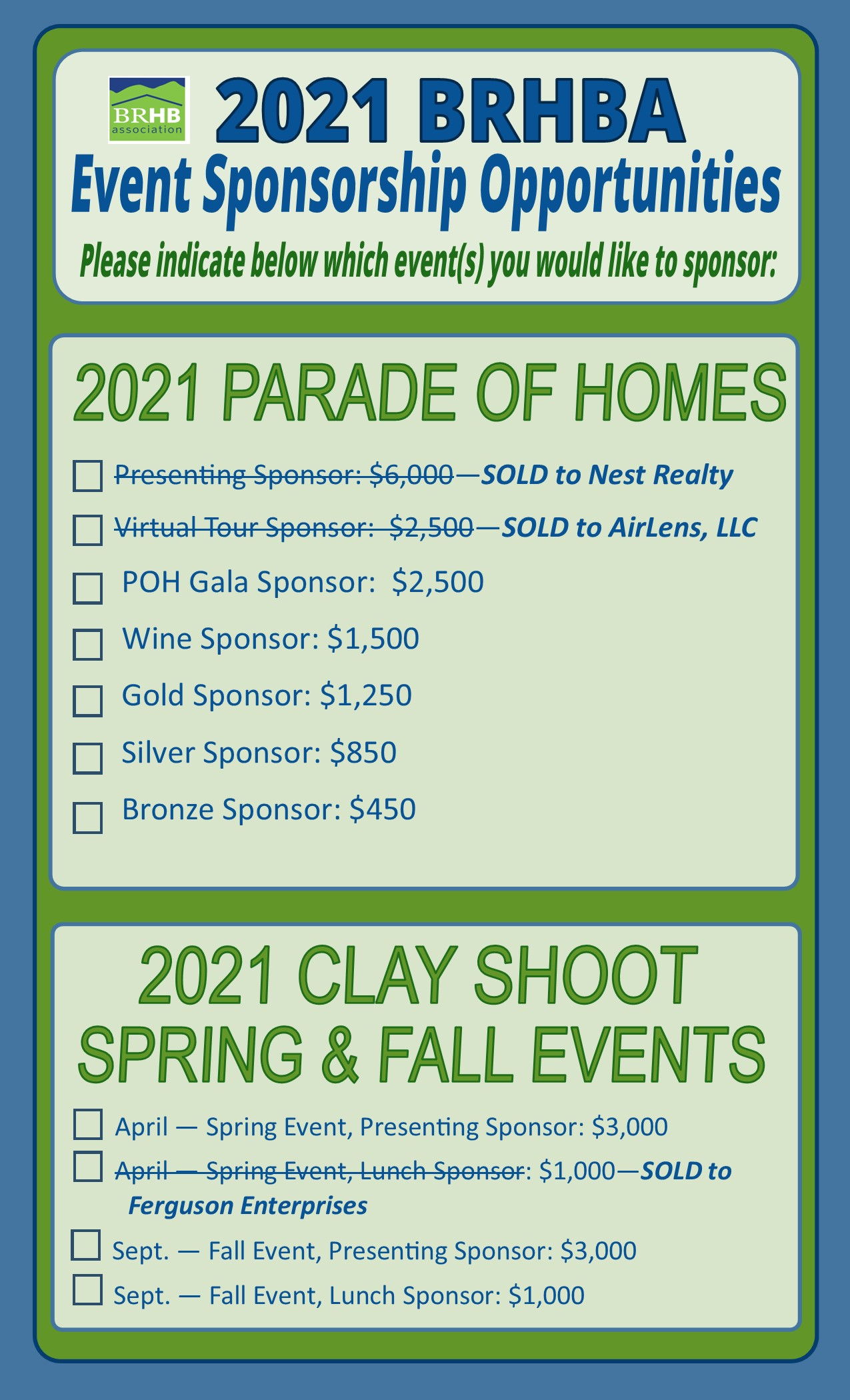 pg 1 2021 BRHBA Sponsorship Opportunities