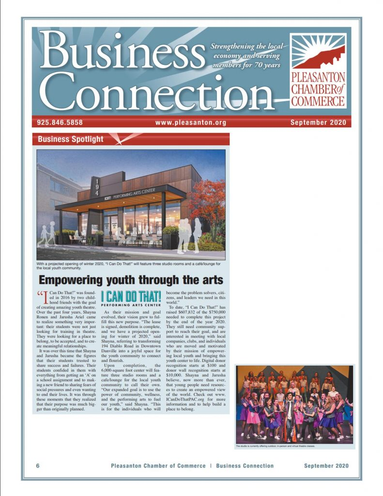 I Can Do That Performing Arts Center Business Spotlight