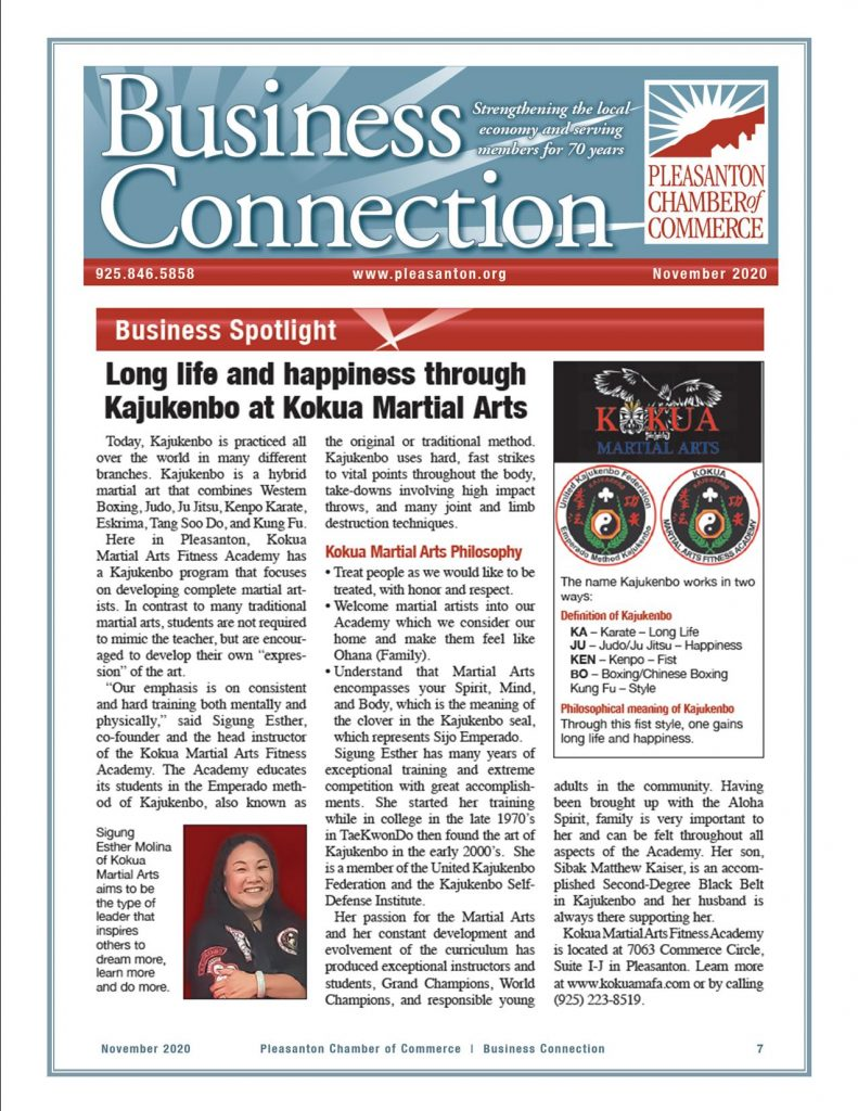Kokua Martial Arts Business Spotlight