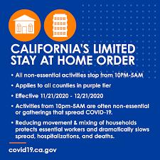 Stay at Home Order November 2020