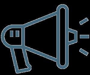 Marketing icon blue