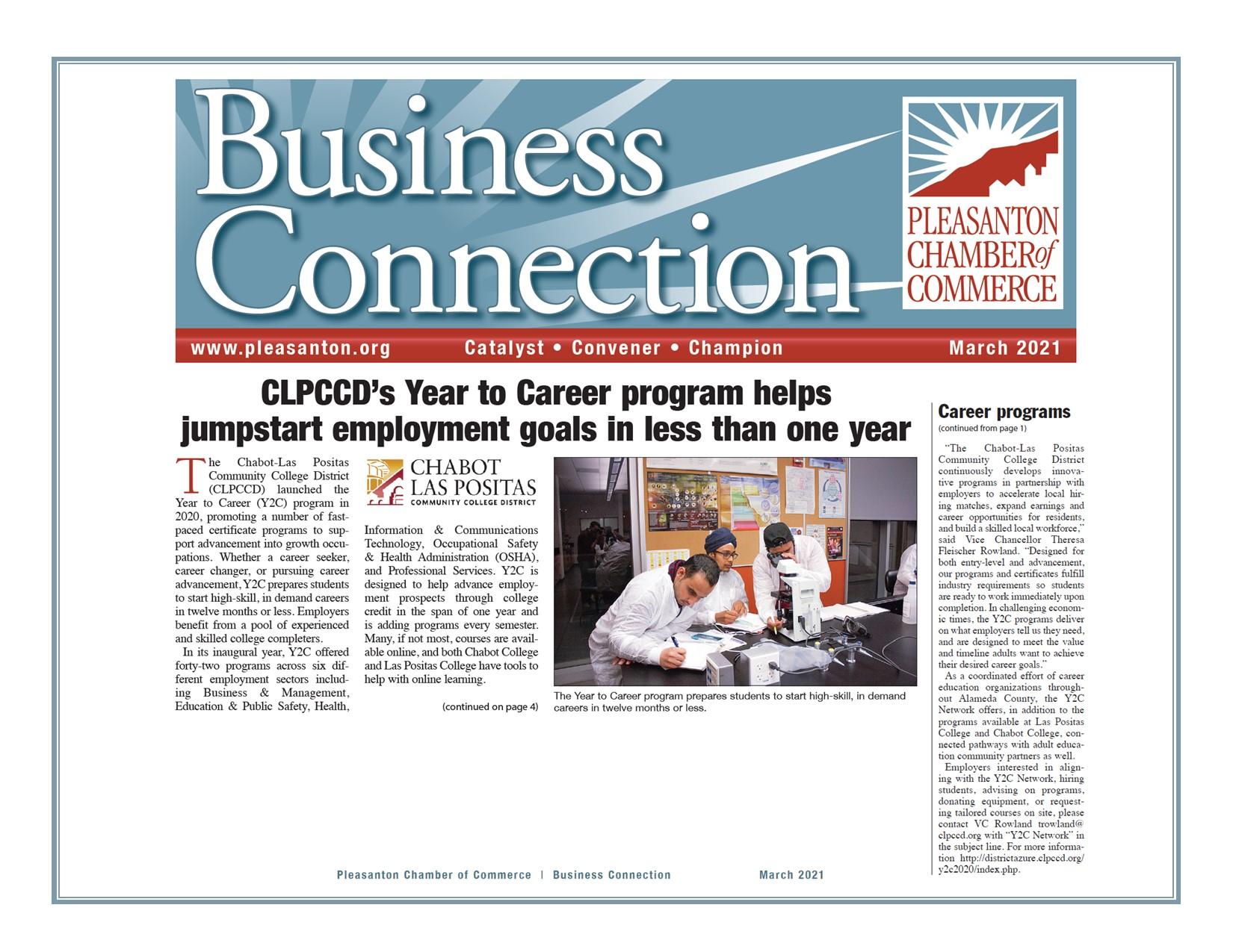 Year to Career CLPCCD Spotlight
