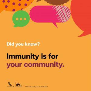 CDPH immunity for your community