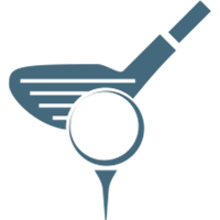 Golf club and tee icon