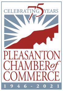 Pleasanton Chamber 75 Year Logo