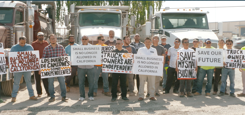 owner operators protesting AB 5