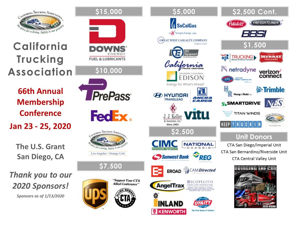 2020 Annual Membership Conference Sponsors