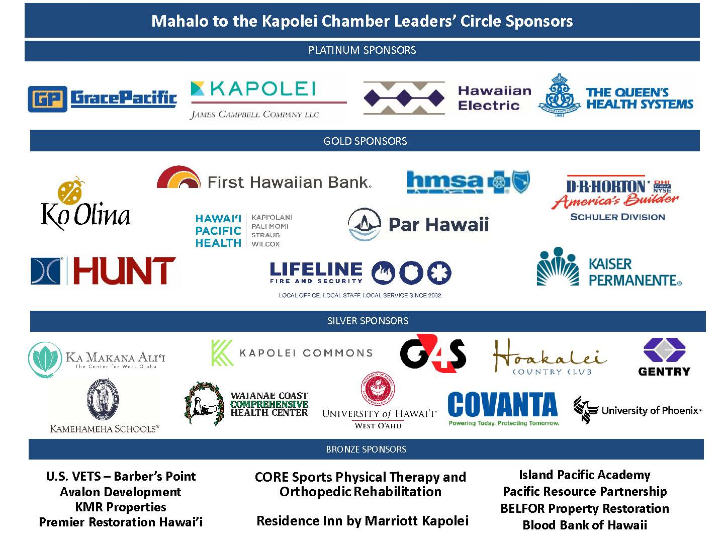 MAHALO TO OUR SPONSORS (10312021)